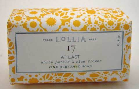 Lollia At Last Perfumed Bar Soap - White Petals & Rice Flower-Magnolia-Mimosa
