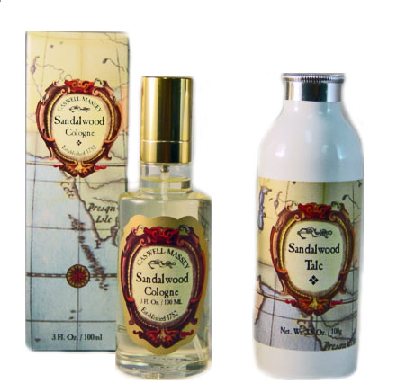 Caswell Massey Sandalwood Cologne Spray and Sandalwood Talc Set