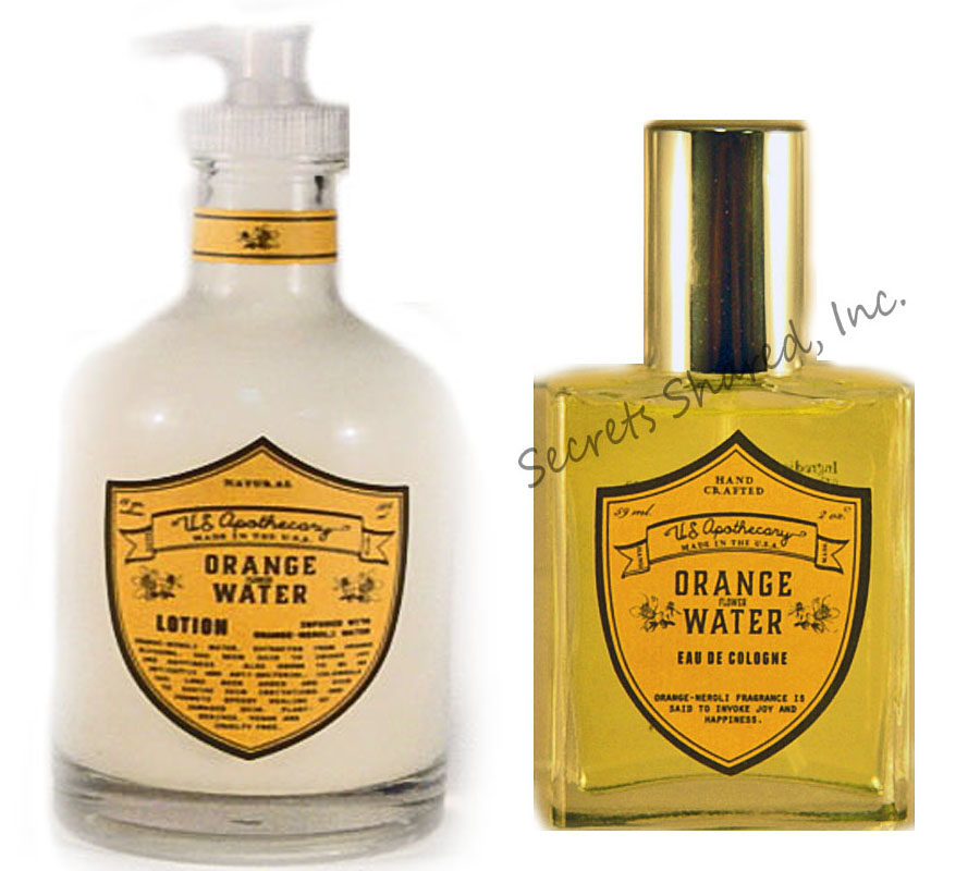 u.s. apothecary Orange Water Lotion with Eau de Cologne