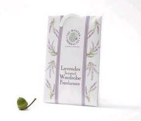 Master Herbalist Lavender Scented Wardrobe Fresheners - 2 pack - imported from England