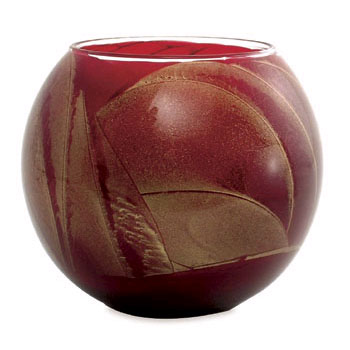 Esque Cranberry Lame Glass Candle Globe