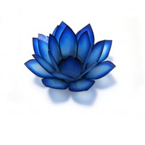 Lotus Capiz Shell Tealight Holder - Blue Lagoon