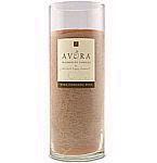 Avora Scented 9 inch Glass Pillar Candle - Scent: Cinnamon Buns