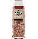 Avora Scented 9 inch Glass Pillar Candle - Scent: Harvest Apple