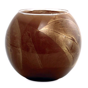 Esque Chocolate Brown Glass Candle Globe