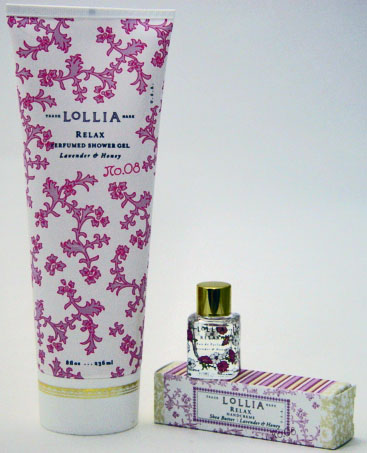 Lollia Relax Shower Gel with Petite Treat Handcreme & Little Luxe Eau de Parfum