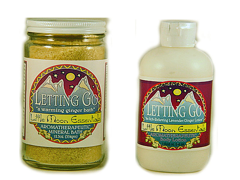 Letting Go Mineral Bath and Letting Go Body Lotion Set by Little Moon Essentials