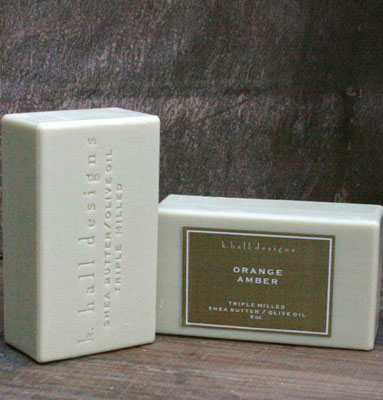 k. hall designs Orange Amber Bar Soap