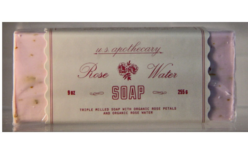 u.s. apothecary Rose Water Bar Soap