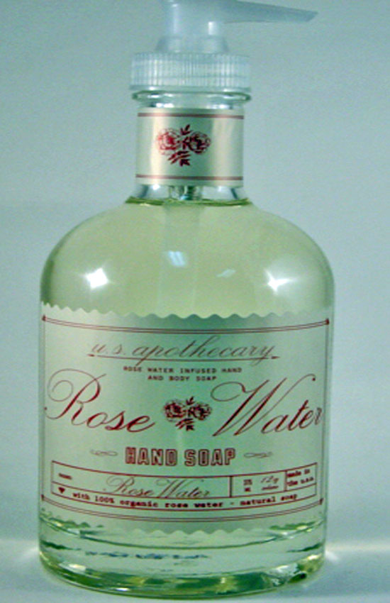 u.s. apothecary/k hall designs Rose Water Liquid Hand Soap
