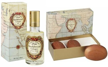 Caswell Massey Sandalwood Cologne with Soap Set